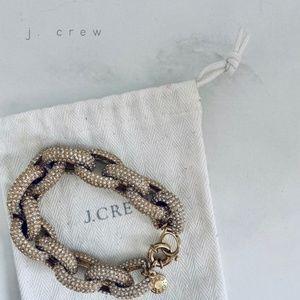 J. CREW gold-tone pavé link bracelet